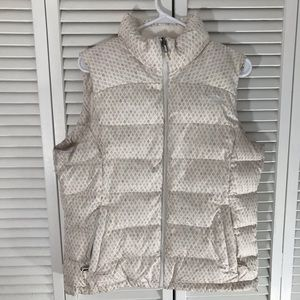 The North Face Down Puffer Vest White Large